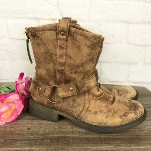 """ROXY /""""TUCSON/"""" GIRL/'S BROWN SLOUCHY ANKLE BOOTS BIG KIDS NEW"""